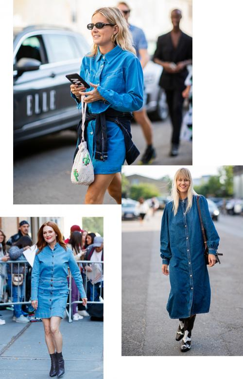 С чем носить джинсовое платье осенью. С чем носить джинсовые платья осенью: 4 стильных и теплых наряда