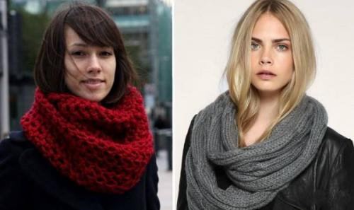 Как носить шарф-хомут короткий. Как носить шарф-хомут – простые и эффектные образы