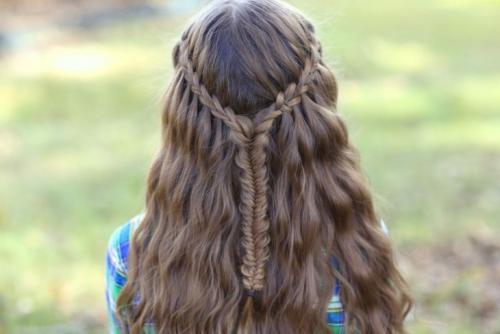 Стрижка водопад на длинные волосы. Прическа водопад — схемы плетения, особенности оформления и ухода + фото