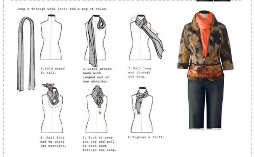 Круглый шарф на шею. Шарф на каждый сезон