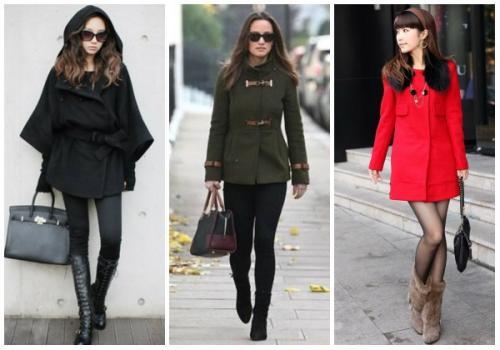 Пальто с короткими ботинками. С какой обувью носить женское пальто до колена?