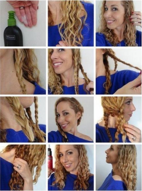 Как легко придать волосам волнистость. Мето.  Ловкость рук и никакого мошенничества