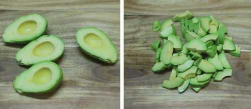 ПП салат с тунцом и авокадо. «Весна» с огурцом и сладким перцем