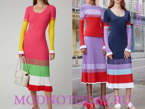 С чем носить трикотажное или вязаное платье лапша. Платье лапшаиз трикотажной ткани