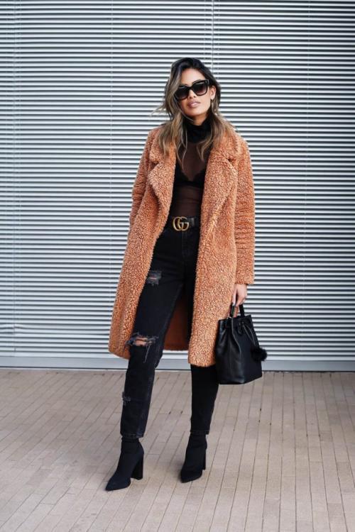 Рваные джинсы в холодную погоду. 15 способов носить рваные джинсы зимой
