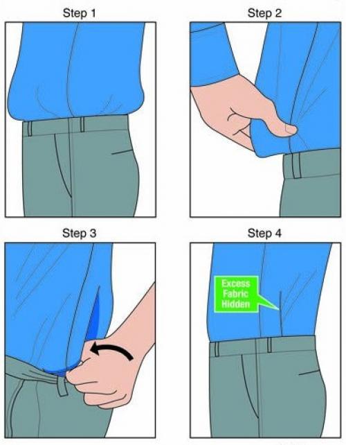 Как заправить рубашку в джинсы с высокой талией. Как красиво заправить рубашку в джинсы или брюки