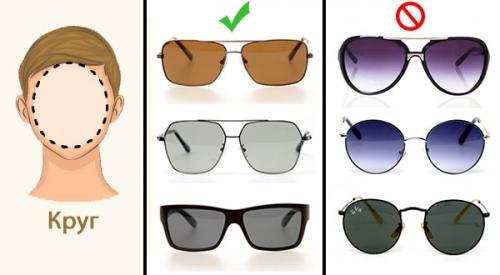 Как подобрать солнечные очки по форме лица для мужчин. Как подобрать очки мужчине по форме лица
