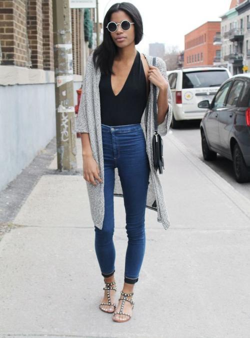 С чем носить джеггинсы зимой. Модные тенденции