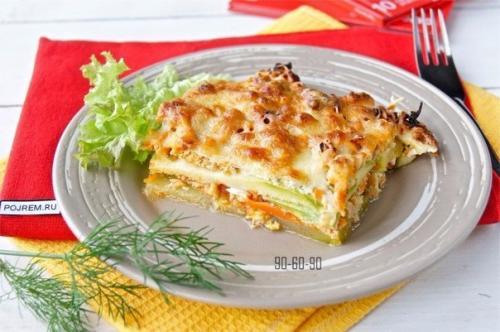 Пп рецепты из кабачка. ПП- Ужин: лазанья из кабачков.