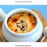 Жюльен с курицей и грибами: диетический ужин!