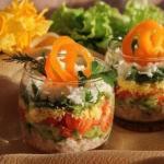 Легкий слоеный салат на ужин?