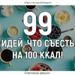 99 идей, что съесть на 100 ккал!