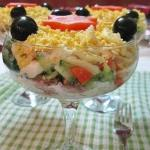 Вкусный салат с тунцом.