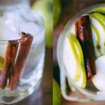 Яблочная вода с корицей.