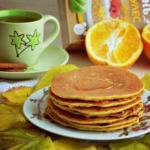 Овсяные блинчики с апельсином.