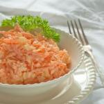 Вкуснейший морковный салат с яйцом.