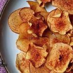 Яблочные чипсы с корицей!