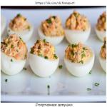 Фаршированные яйца - белковый заряд!