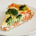 Очень полезный ужин: запечённый лосось с брокколи.