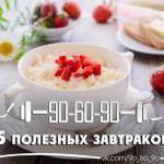 5 завтраков, которые избавят от проблем с кожей и лишним весом?