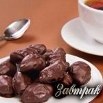 Чернослив в шоколаде 340 ккал на 100 г.