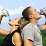 Режим питья во время тренировки.