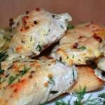 Отличный вариант для ужина - куриное Филе в кефире!