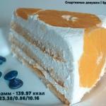 Творожный торт. Ингредиенты: