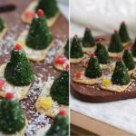 Сырные елочки к праздничному столу.